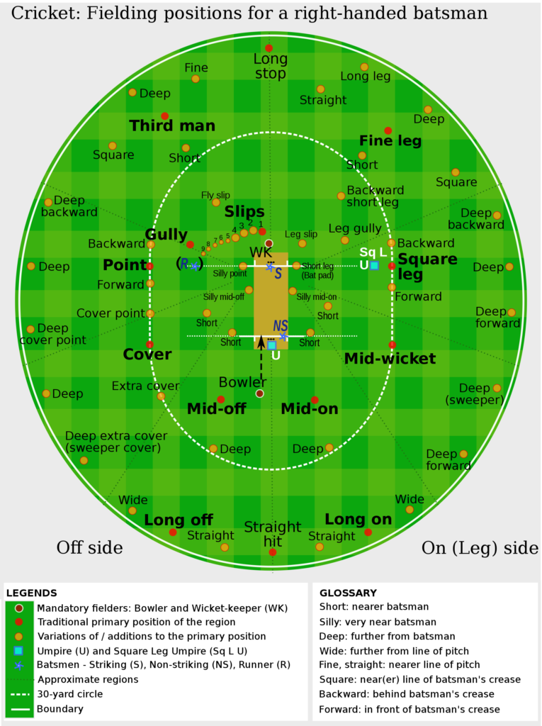 Cricket Field Positions Fully Covered